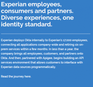 Experian employees, consumers and partners. Diverse experiences, one identity standard.