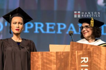 Sophia, the Robot, Delivered Keynote at Rhode Island School's 2018 Commencement