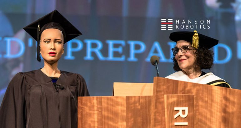 Sophia, the Robot, Delivered Keynote Address at Rhode Island Graduation