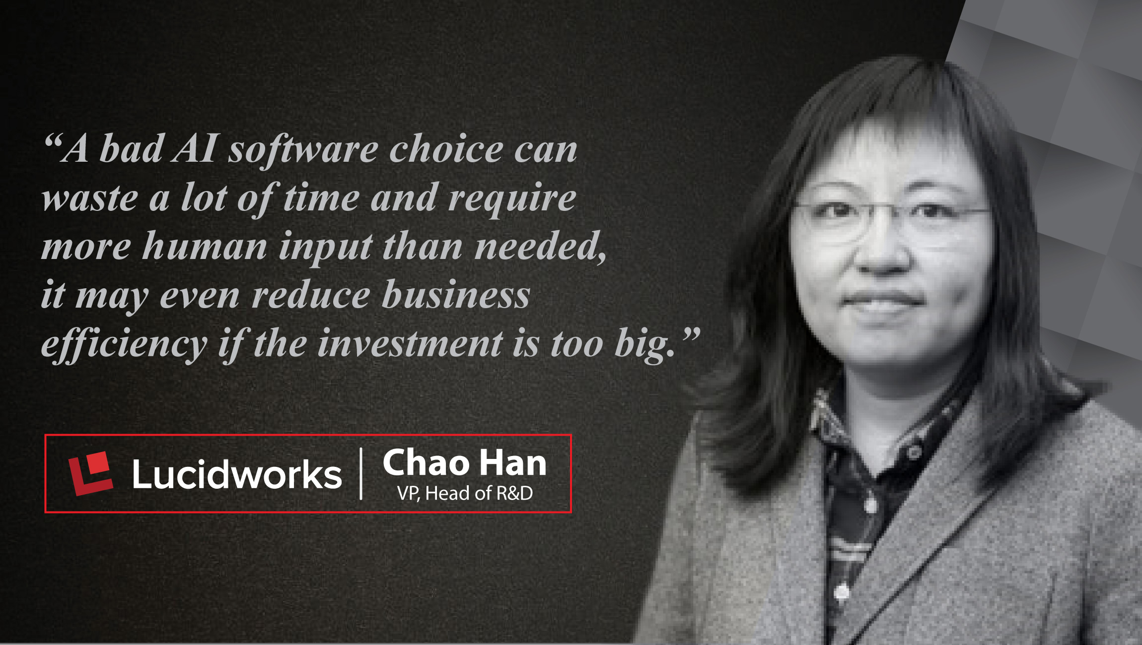 Interview with Chao Han, VP, Head of R&D at Lucidworks