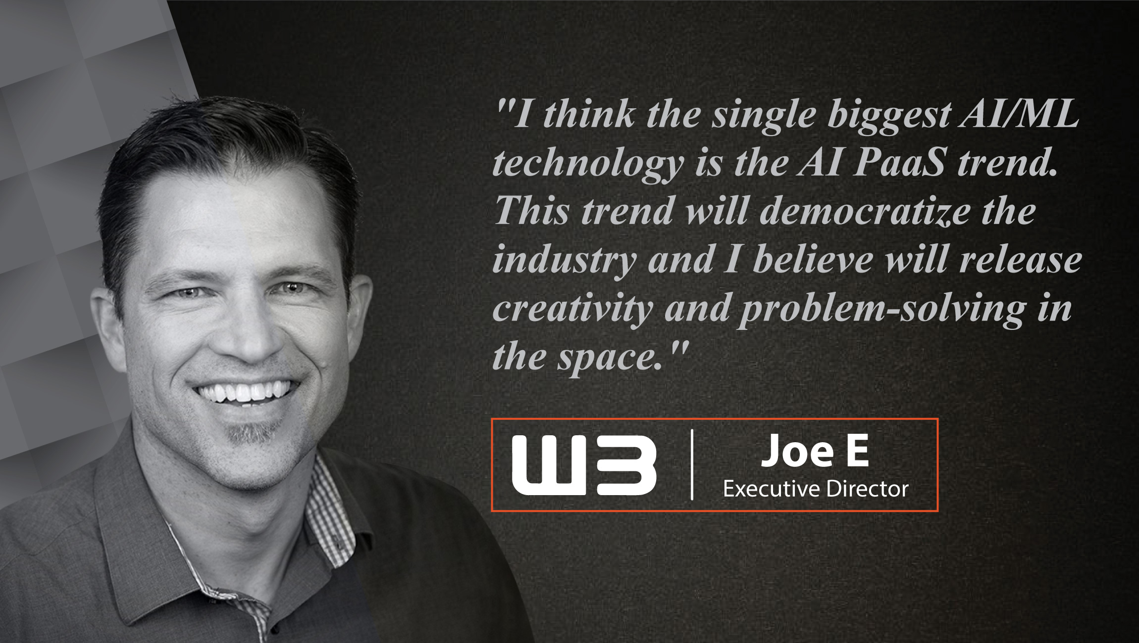 Interview with Joe Edwards, Executive Director, Tonic3 & W3