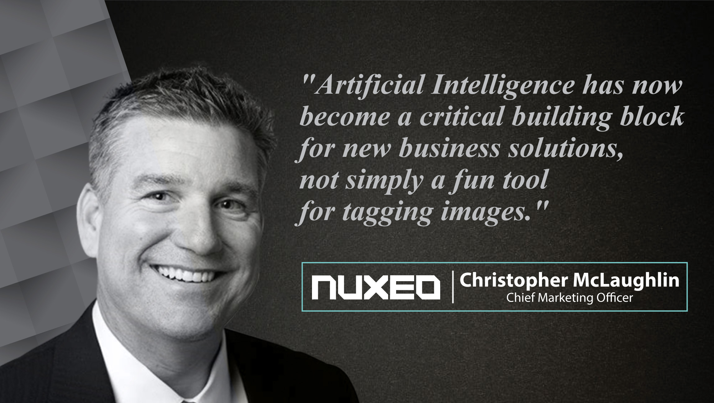 Christopher McLaughlin, Chief Marketing Officer, Nuxeo_cue card