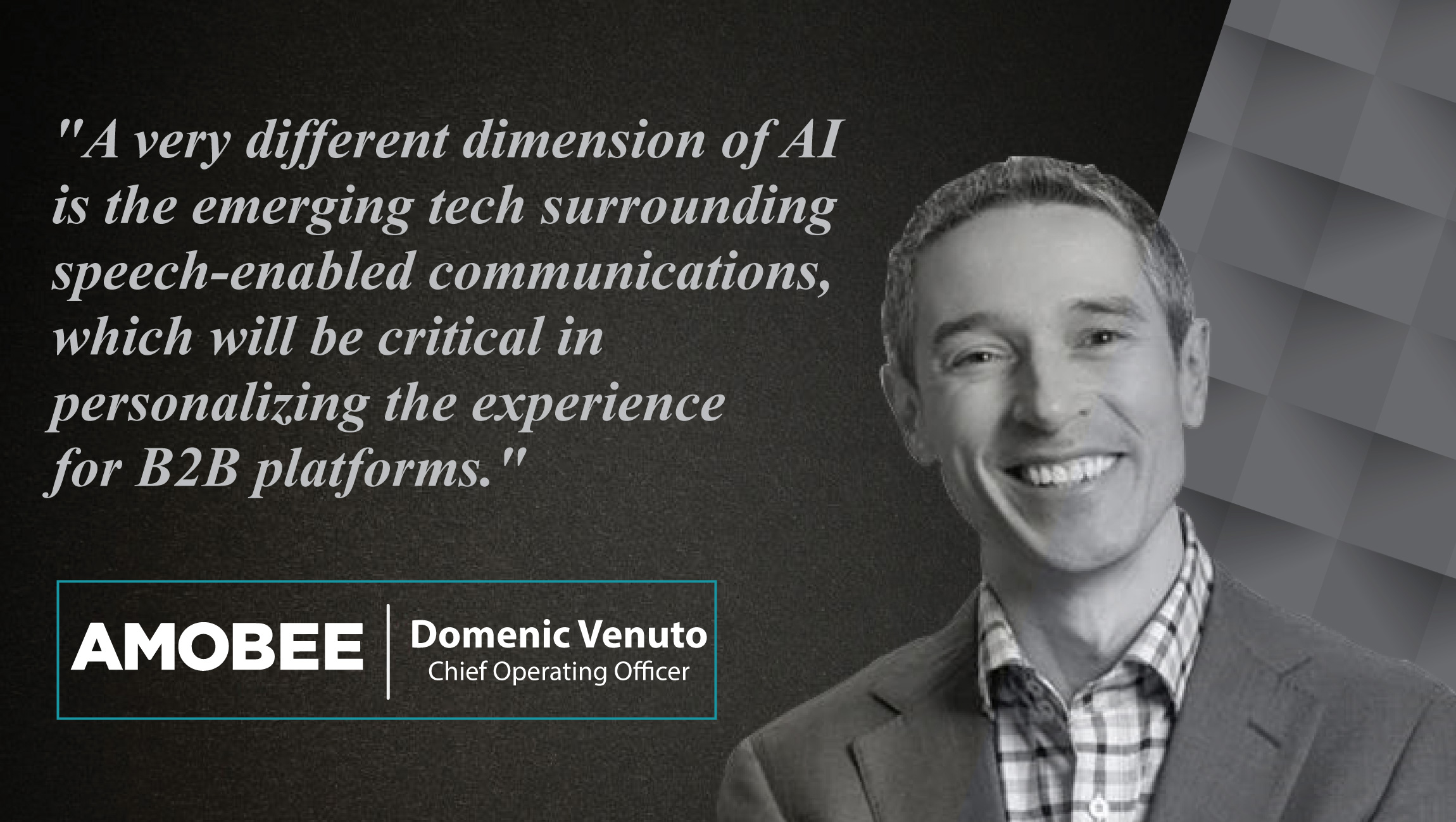 Domenic Venuto, Chief Operating Officer of Amobee