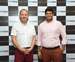 Phil Stigoe with Anant Roongta Managing Director Famous Studios