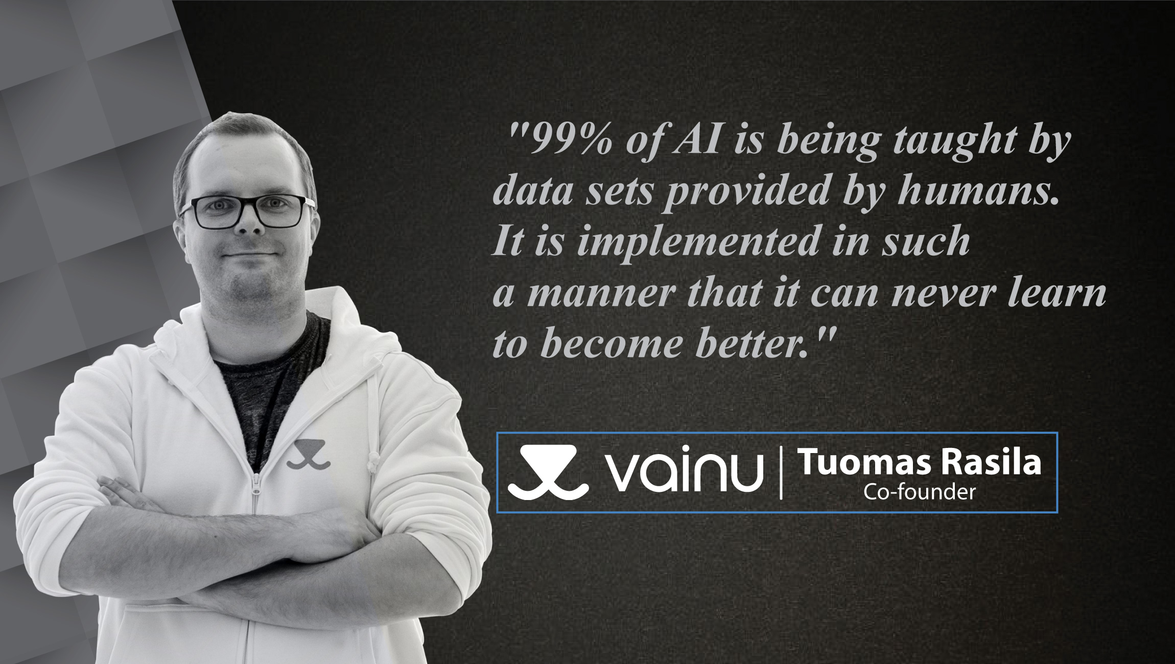 Interview with Tuomas Rasila, Co-Founder at Vainu_Cue card