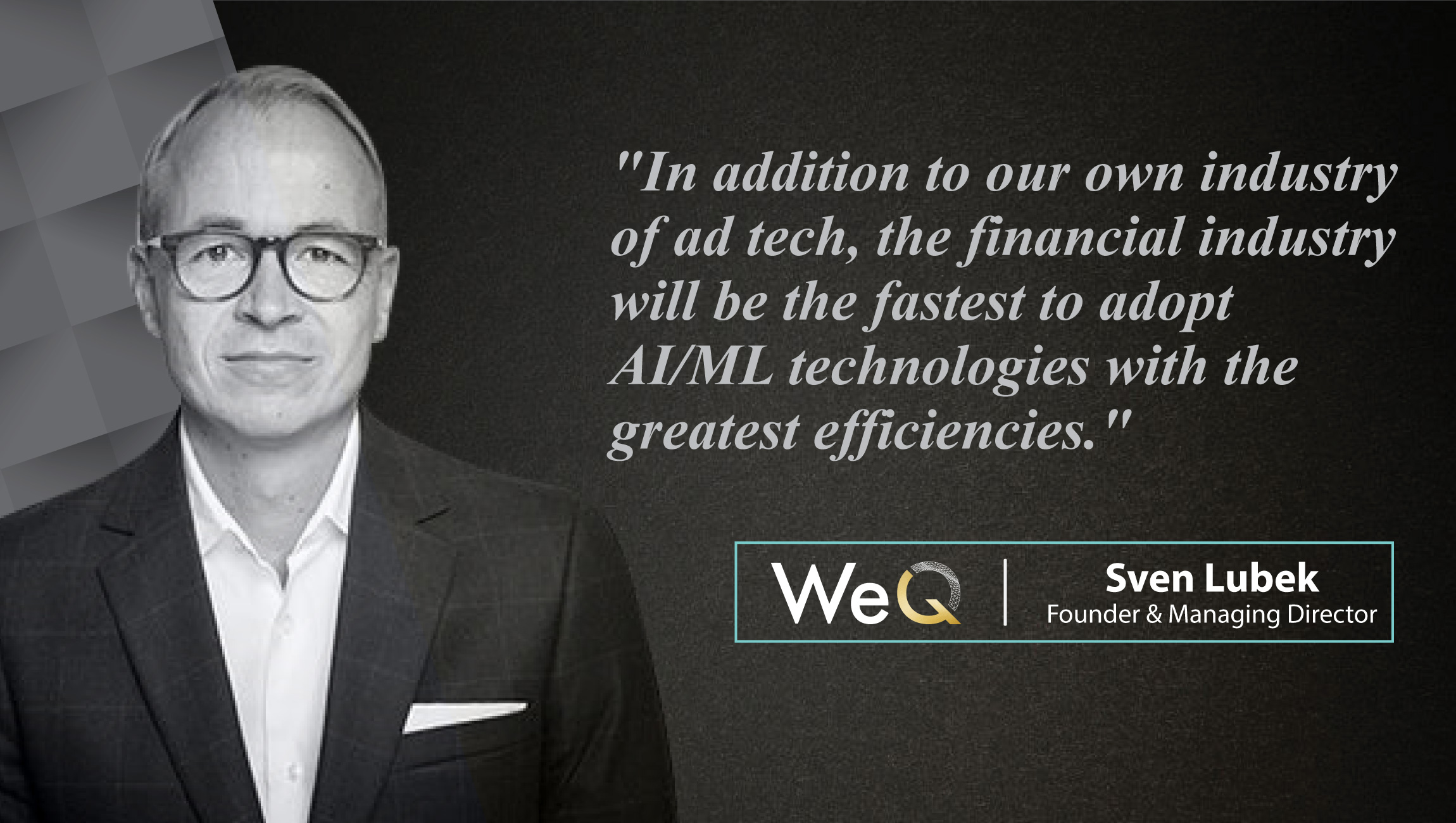Interview With Sven Lubek, Managing Director at WeQ_cue card
