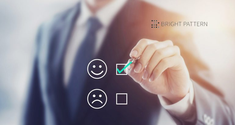 Bright Pattern Outranks Top Contact Center Vendors Based on Customer Satisfaction Ratings
