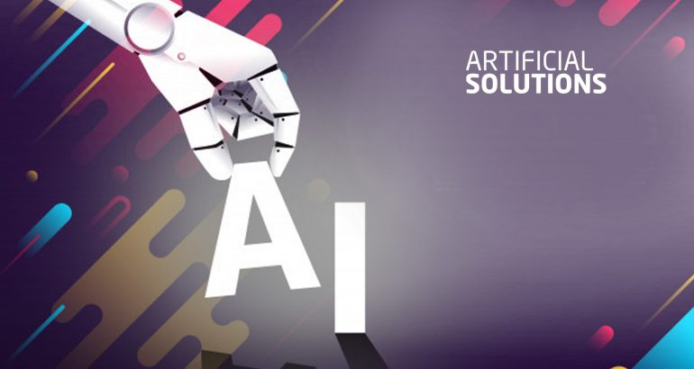 Artificial Solutions Continues Momentum in Conversational AI Market