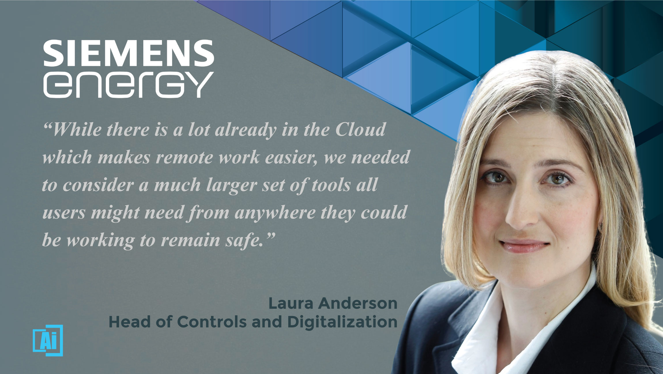 AiThority Interview With Laura Anderson, Head of Controls and Digitalization at Siemens Energy
