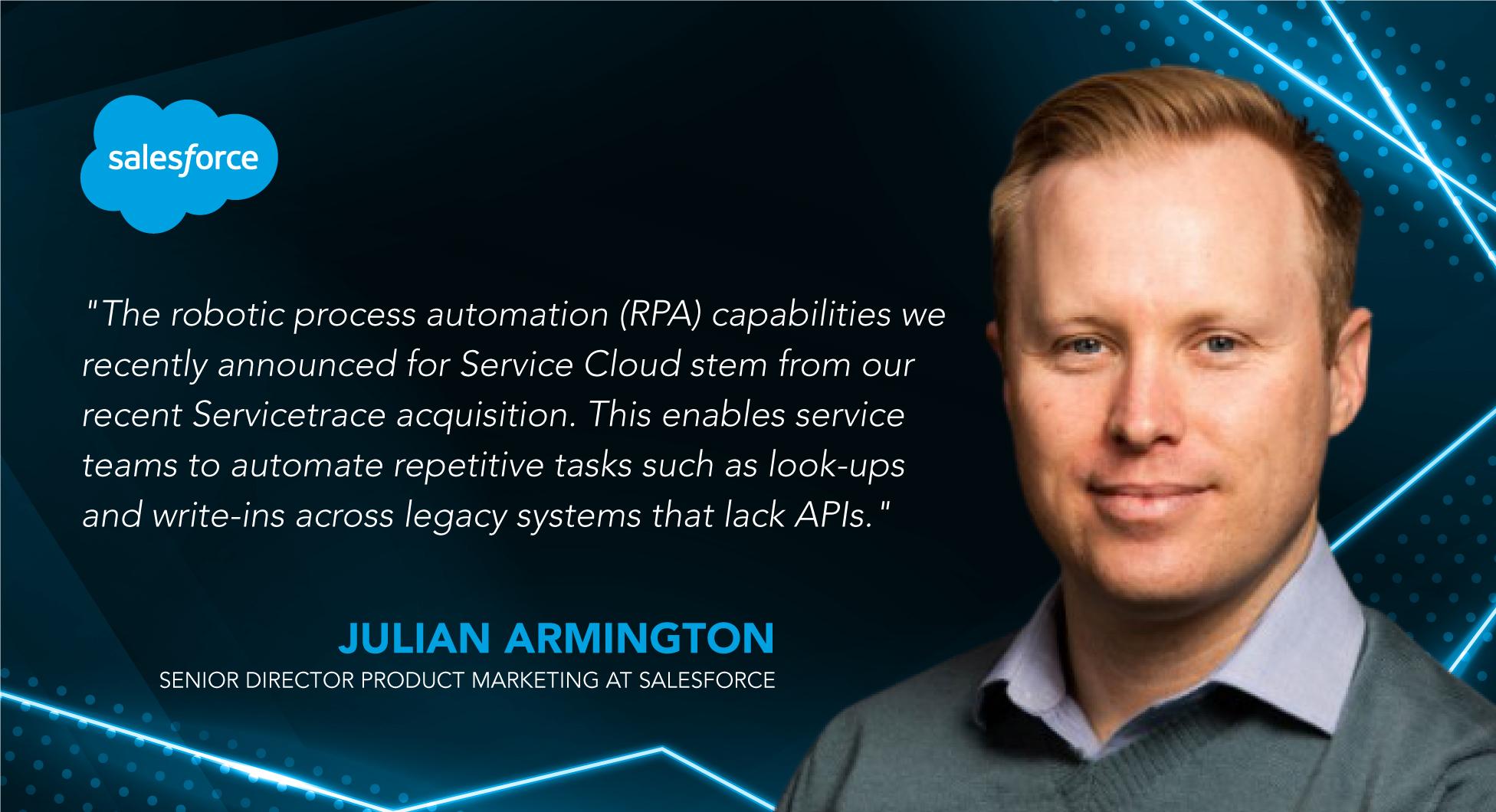 Julian Armington, Senior Director Product Marketing at Salesforce